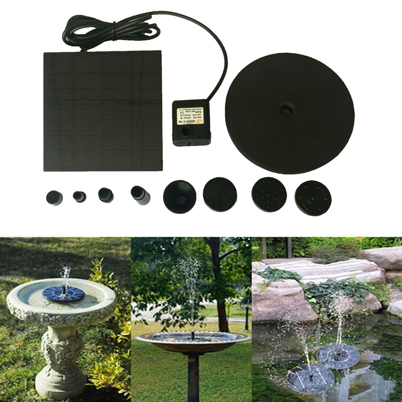 Floating Solar Powered Pond Garden Water Pump Fountain Kit Bird Bath Fish Tank Outdoor Tools free shipping new 220v ylj 500 500l h 8w submersible water pump aquarium fountain fish tank power saving copper wire