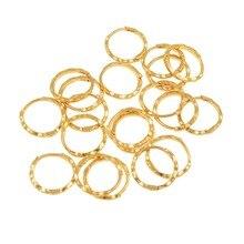 Anniyo 12 пар/диаметр 1,5 см маршаллоу пружинные кольца серьги золотого цвета для женщин девочек Kiribati ювелирные изделия Микронезия подарки #163306