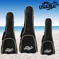 "600D Waterproof 5mm Padded 21"" Soprano 23"" Concert 26"" Tenor Ukulele Bag Soft Case Single Strap Portable Black"
