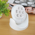 LED Cordless Motion Activated Sensor Light Lamp 360 Degree Rotation Wall Lamps Porch Light For Indoor with Light Control
