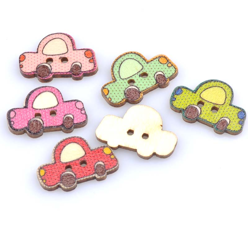 Home & Garden 50pcs Cute Car Pattern Diy Wooden Buttons Botones Handmade Accessories Decoration Scrapbooking Crafts 24x16mm Mt0960 As Effectively As A Fairy Does