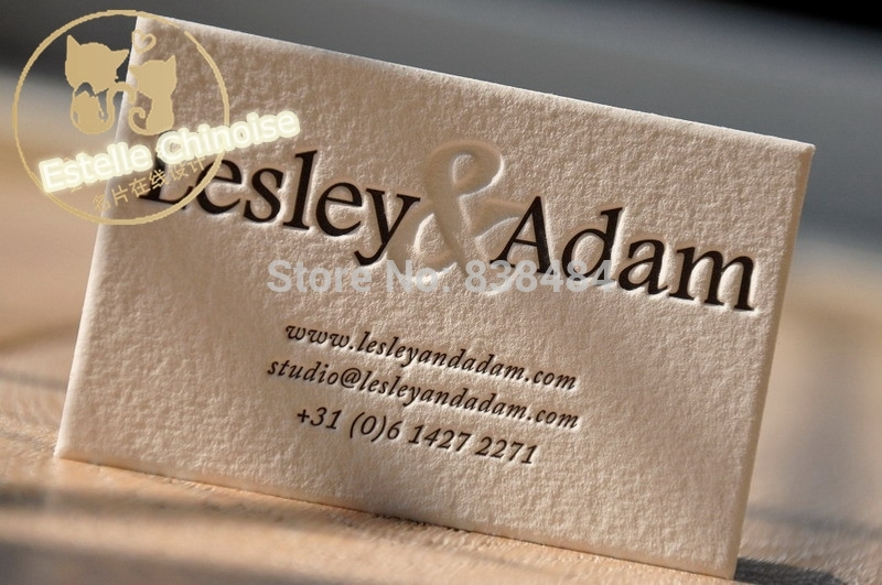 Aliexpress Buy High Quality Letterpress Romantic Wedding Invitations Business Cards Imported UK Cotton Paper Upscale Customized From Reliable