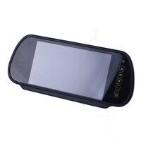 7 Inch TFT LCD Widescreen Nút Cảm Ứng hỗ trợ DVD Xe Gương Chiếu Hậu Màn Hình 7 '' Tô Xe Xếp Rear view Monitor