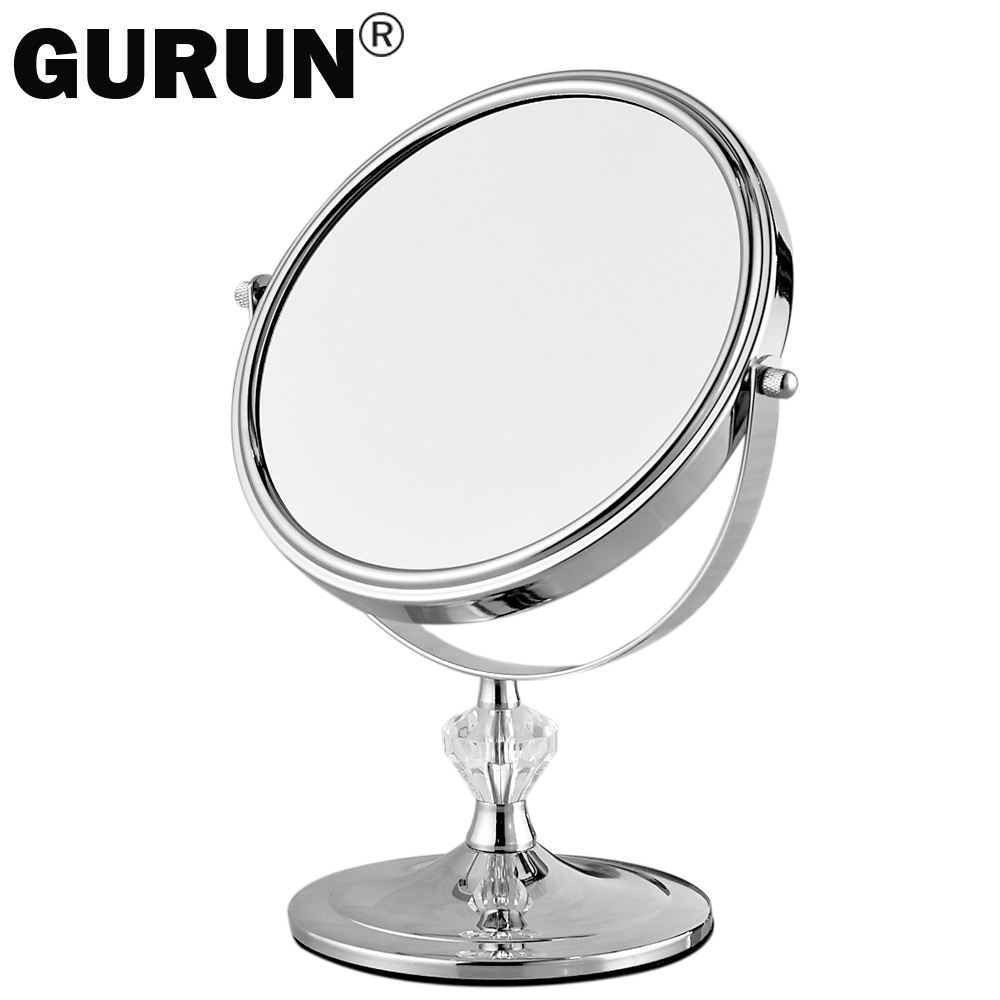 gurun desktop makeup mirror stand for makeup magnifying 3x table mirrors round double sided. Black Bedroom Furniture Sets. Home Design Ideas