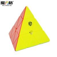 Qiyi Pyraminx X MAN Qiyi Mofangge Bell Magnetic Pyraminx Speed Cube Black White Stickerless Magic Cube