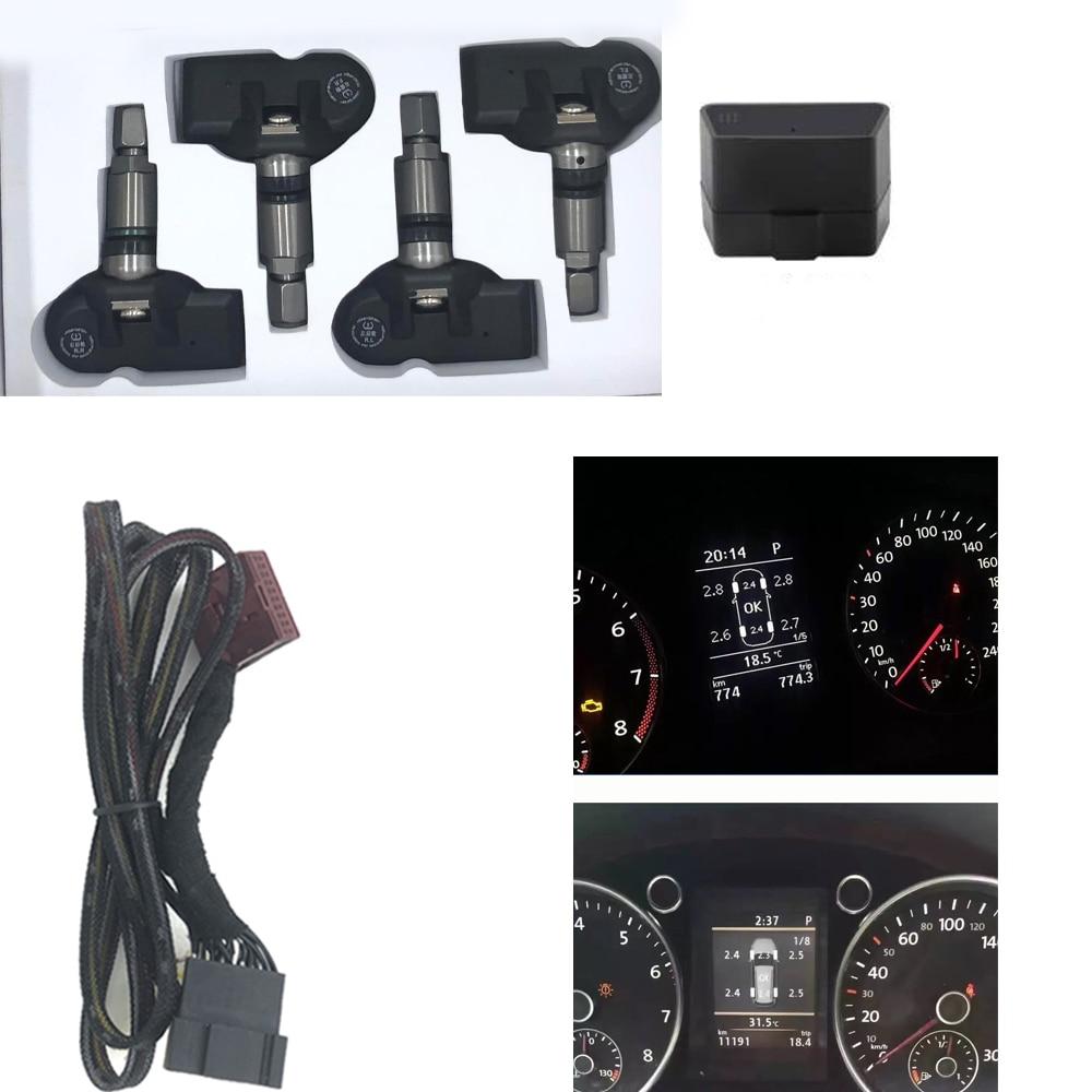 Surveillance de la pression des pneus OBD TPMS 433MHz pour VW passat B7 2013-2018 Tiguan 2013-2018 Touran 2013-2018 pour VW MQB PQ
