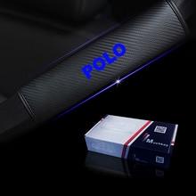 Светоотражающий автомобильный ремень безопасности, накладки на плечо, безопасный Чехол на ремень безопасности для Фольксваген Поло, автостайлинг, автозапчасти, 2 шт