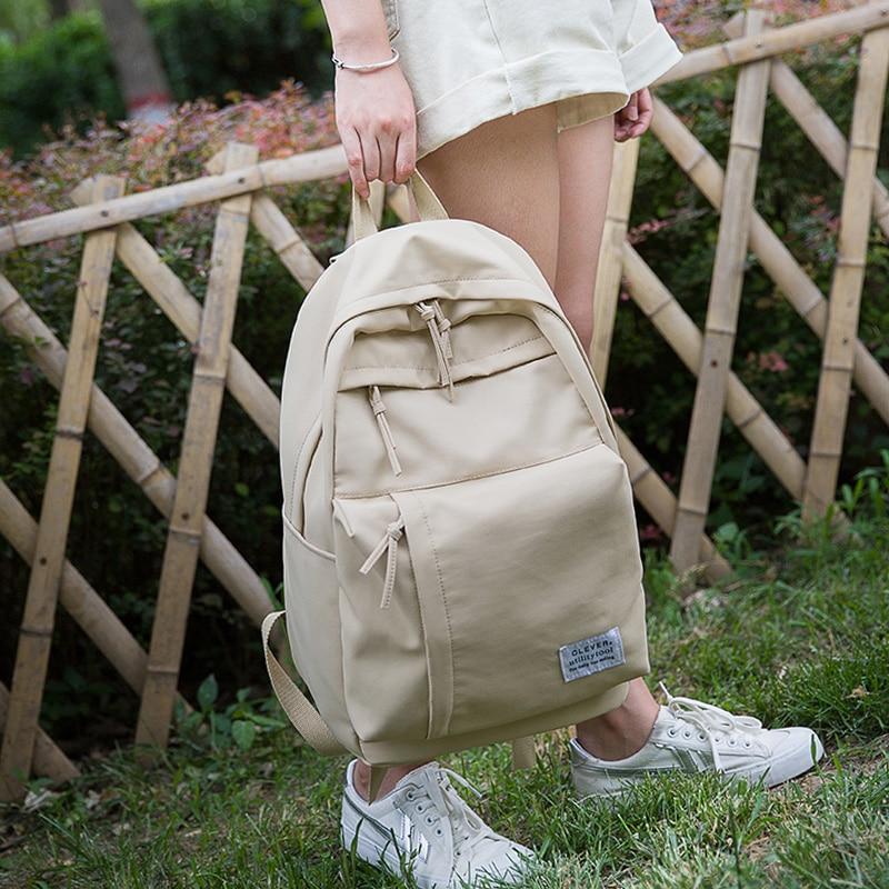 2019 Frauen Rucksack Für Schule Jugendliche Mädchen Vintage Stilvolle Schule Tasche Damen Nylon Stoff Rucksack Weibliche Bookbag Mochila