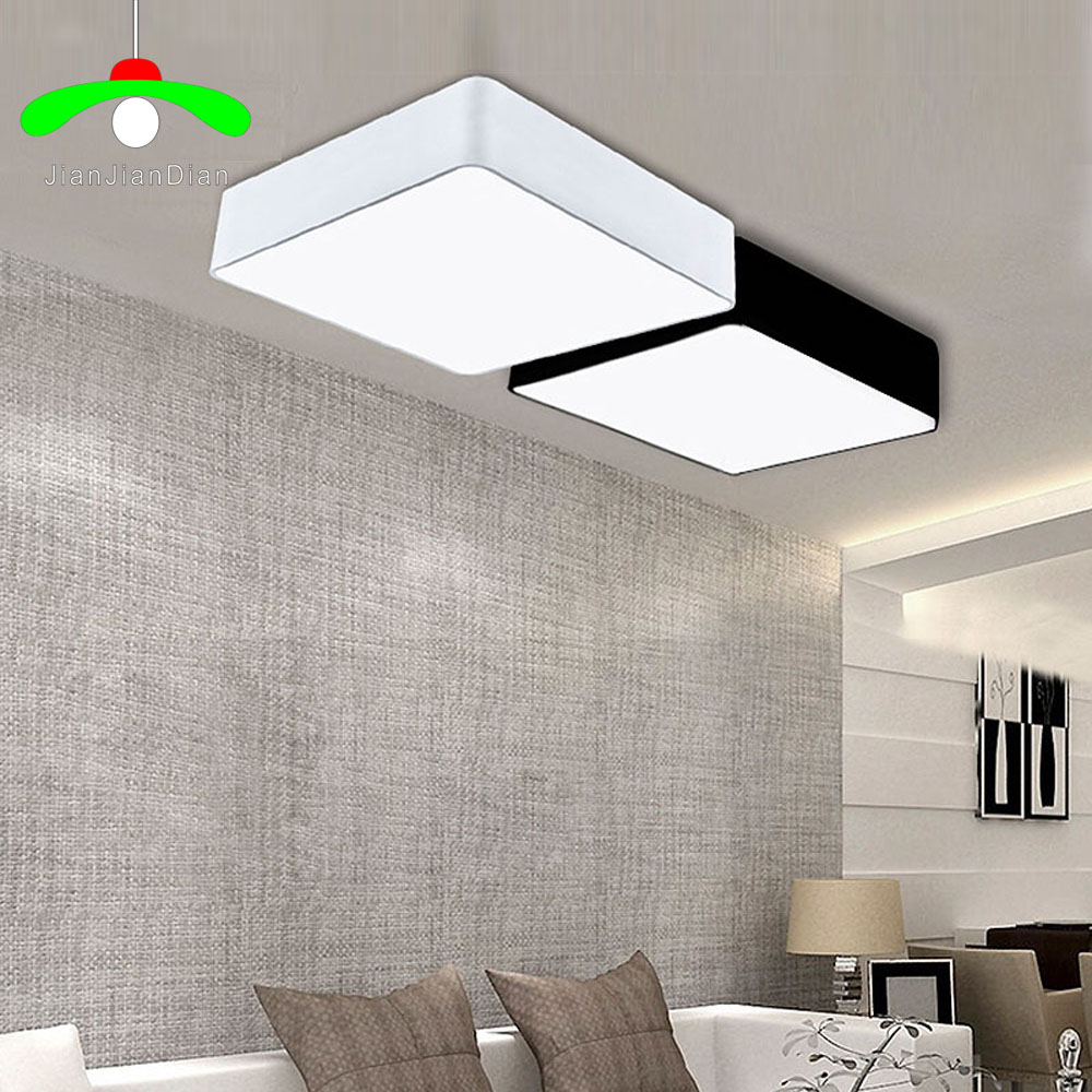 Modern12W 24W led ceiling light rectangle restaurant lamp dimming ultra-thin brief fashion lamps 110-240V j best price modern fashion crystal lamp rectangle restaurant ceiling lamp sitting room partition lamps led ceiling light