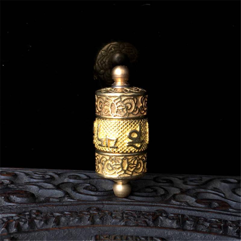 TGB231 Tibet Yeni Qızıl Mantra Namazı Təkər Qutusu Mani Amulet Kulon
