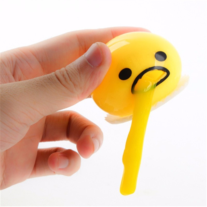 Vomiting Egg Anti Stress Toy Yolk Vomit Squeezed Slime Creative Prank Gifts Fun Stress Relief Vent Balls Healthy Squeeze