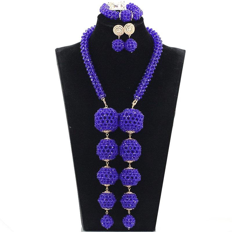 Fabulous Silver Wedding African Beads Jewelry Set Crystal Pendant Nigerian Indian Bridal Women Jewelry Set Free Shipping WE113