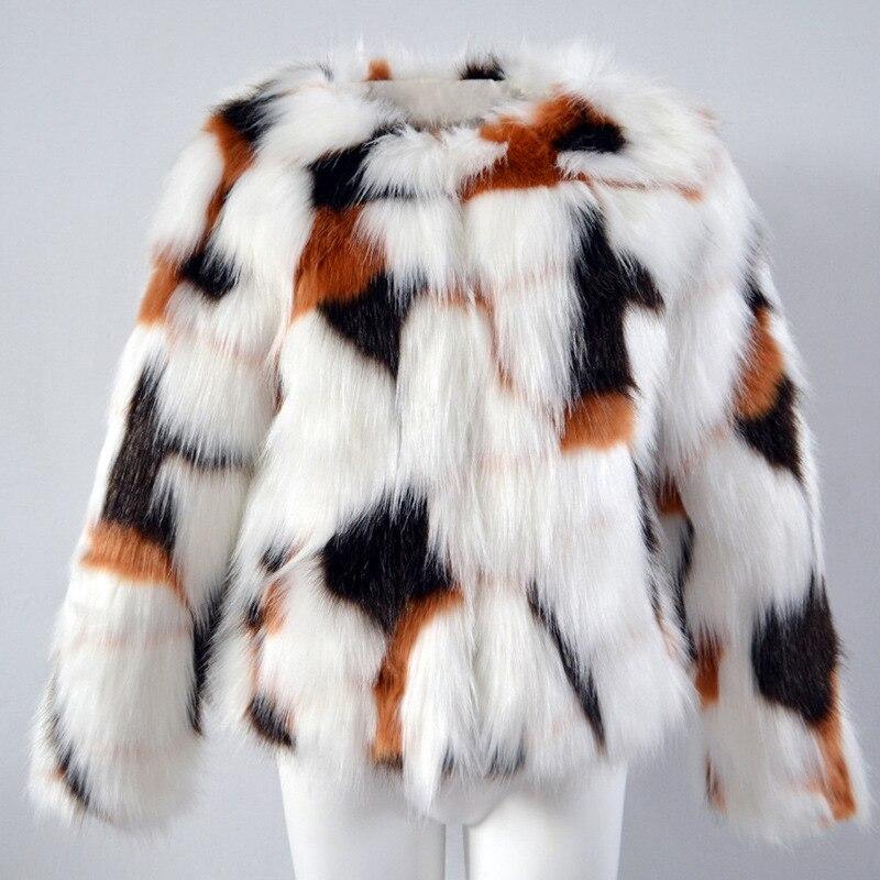 D'hiver En Fausse Multi Vêtements Mode Renard Nouvelle Manteau Femmes Fourrure De 6xl S Dames Imitation Hf4qw