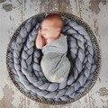 4 M Cobertor Do Bebê Da Foto Adereços Fotografia de Recém-nascidos Longo Cesta Trança Cesta Stuffer Enchimento Acrílico atrezzo fotos do bebê