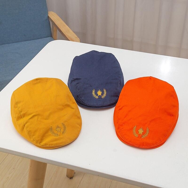 Cute Solid Kids Beret Hat Cotton Boy Girl Hats Toddler Beanie Cap Children Summer Sun Hats Cap