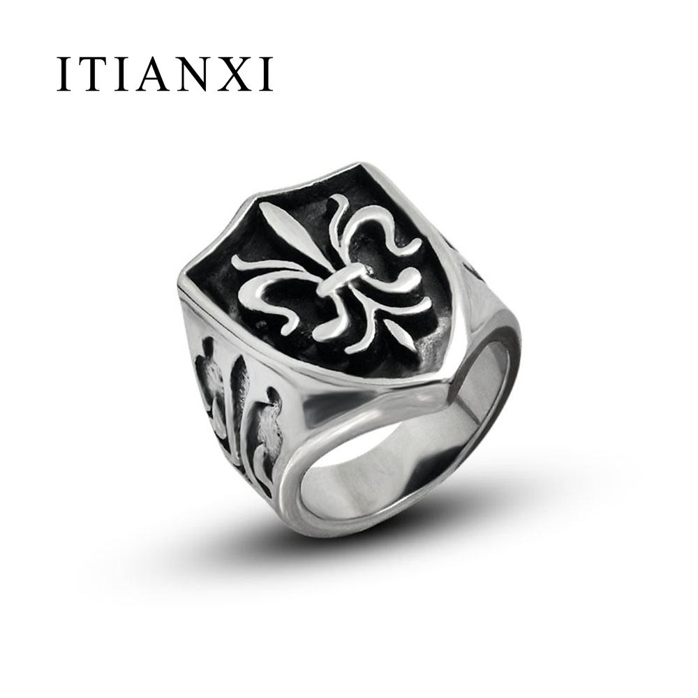 ITIANXI Jewelry Rings For Europe And The United States Cross Flame Ring Man Single Finger Jewelry Domineering Personality