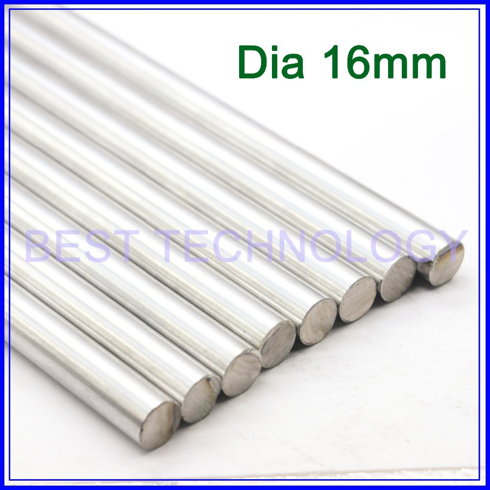 WCS Dia 16mm-L400mm Chrome Plated Cylinder Linear Rail Round Rod Shaft Linear Motion Shaft ,high quality!!! nitro triple chrome plated abs mirror 4 door handle cover combo