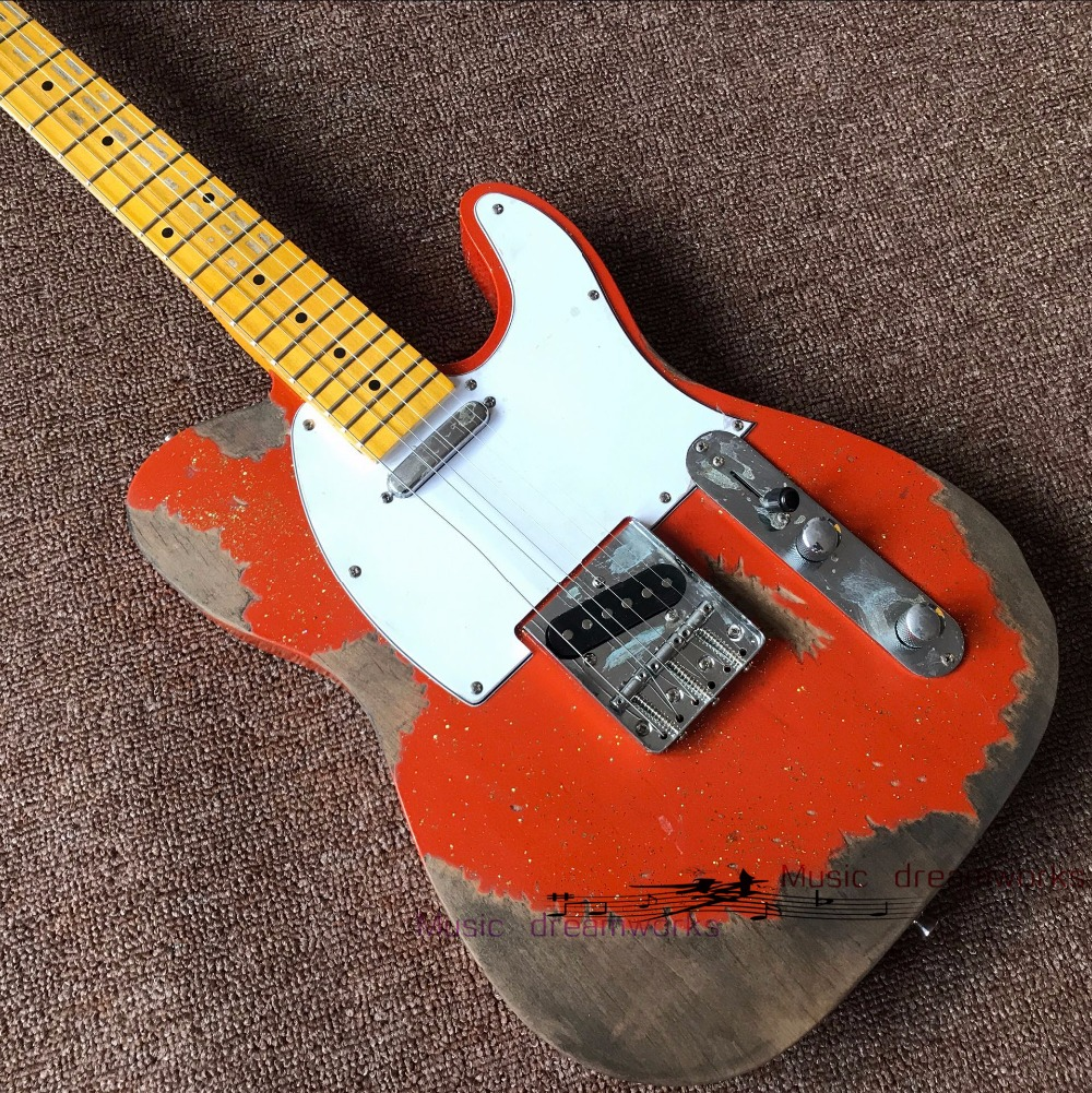 China firehawk OEM SHOP electric guitar The new handmade remains old TL Alder body electric guitar image