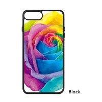 LGBT Amour Arc-En-Coeur de Drapeau Fleur Gay Pride Lesbiennes Bisexuels soutien Téléphone Cas pour iPhone X 7/8 Plus Cas Phonecase couverture