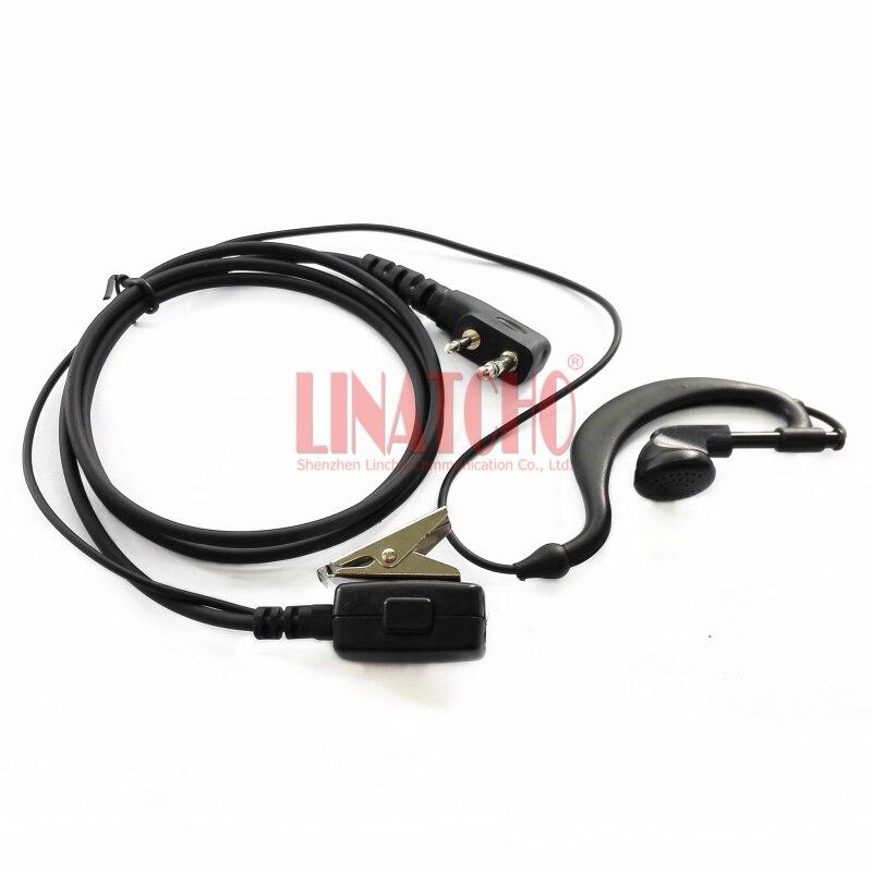 Portable Ptt Walkie Talkie Handheld Radio 2 Pins Earphone Earpiece For Radio Ic-v85 Ic-v82 Ic-V80