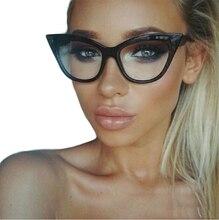 2017 New Vintage Cat Eye Glasses Frame Women Brand Designer Optical Eyeglasses Ladies Fashion Retro Clear Glasses