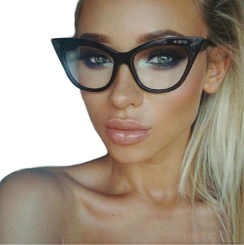 2017 neue Vintage Cat Eye Brille Rahmen Frauen Marke Designer ...