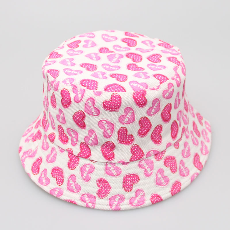 100pcs/lot Children girls sun hat boys summer bucket hat cartoon design printed cute kids cap outdoor hiking boonie hat bob
