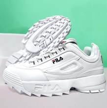 4dc579b2370a2 2018 FILAS Disruptor zapatos de hombres y mujeres de verano blanco  aumentado al aire libre zapatillas tamaño 36-44