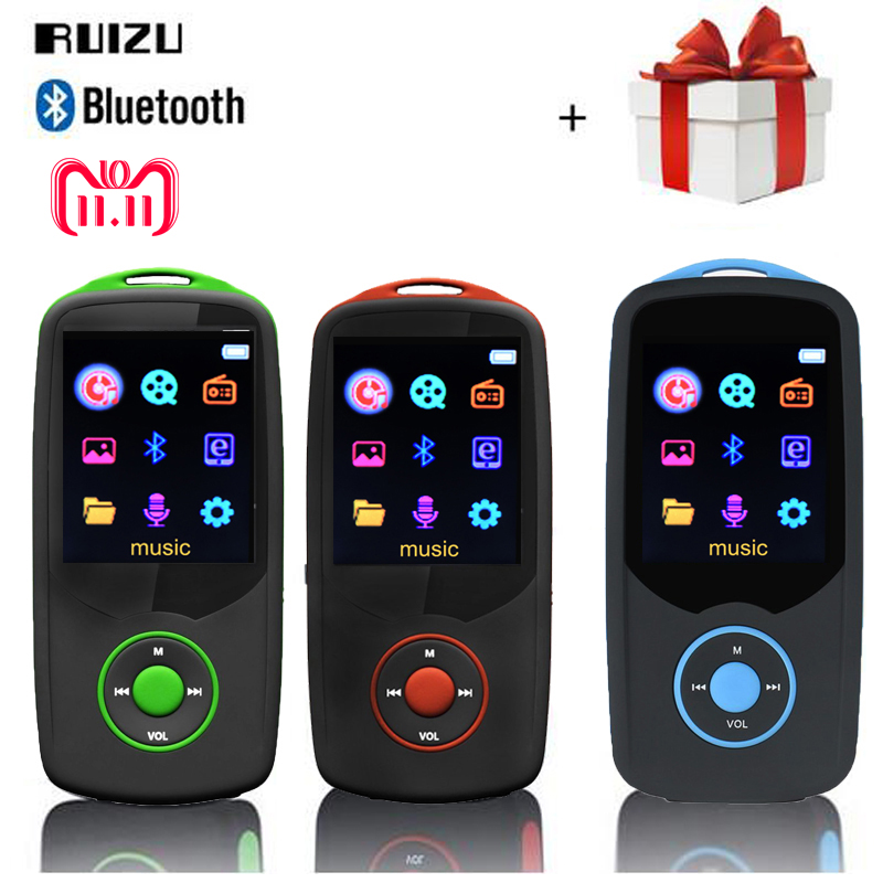 Portable RUIZU X06 mp3 player Bluetooth4.0 8GB 16GB sport 1.8 Screen Digital MP3 Music Player Video Player Bluetooth FM walkman цена и фото