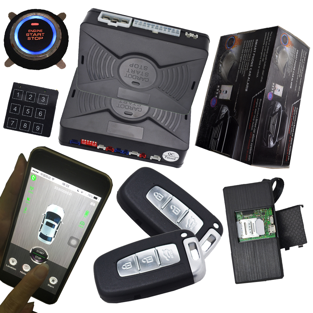 HOT SALE] smart anti robbery car security alarm system GSM