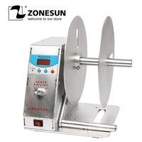 ZONESUN цифровой тег перемотки, Автоматическое сматывание этикетке для печати, скорость регулируемого Стикеры ярлыки штрих код rewinder220V или 110 В