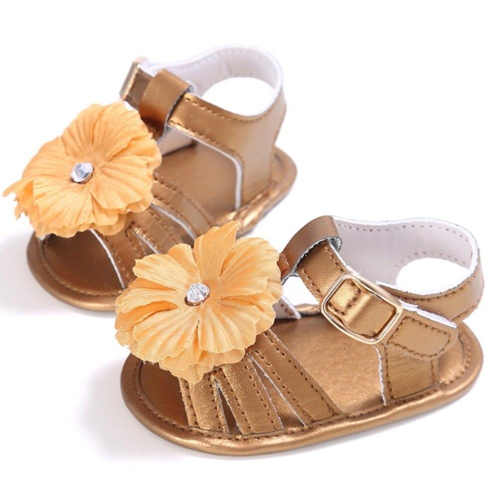 Fashion Summer Newborn Baby Girls Leather Toddler Prewalkers Kids Soft Crib Sole Shoes