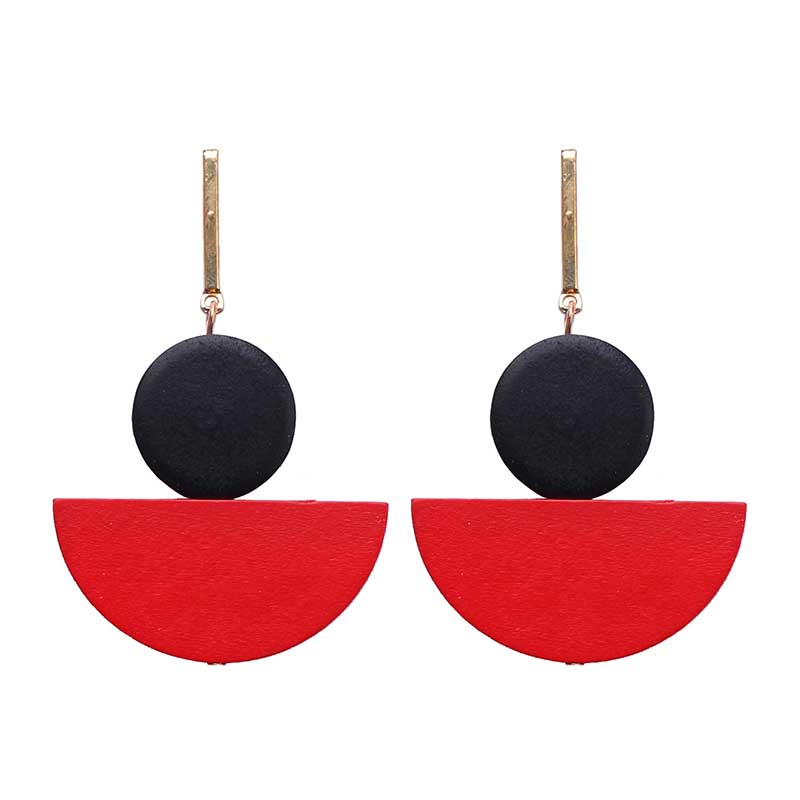 New Brincos Long Earrings Bijoux Round Wood Earring Dangle Drop Earrings For Women Bohemian Boho Style Wedding Jewelry