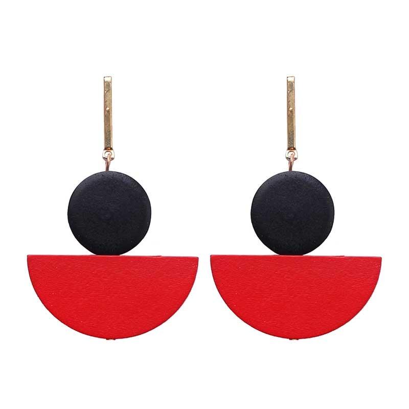 New Brincos Long Earrings Bijoux Round Wood Earring Dangle Drop Earrings For Women Bohemian Boho Style Wedding Jewelry