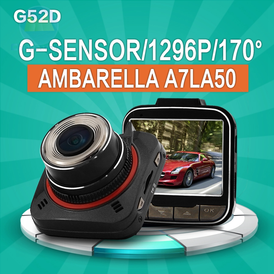 XYCING G52D Ambarella A7LA50 Car DVR Full HD 1296P Video Recorder Car Blackbox 2.0 inch Screen G-Sensor OV4689 Sensor Dash Cam цены онлайн