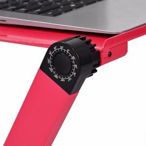 Image 5 - Przenośny Laptop stojak na biurko dla kanapa z funkcją spania regulowany stojak do komputer Laptop Deskes z podkładka pod mysz podkładka pod mysz aluminium Notebook stół biurko