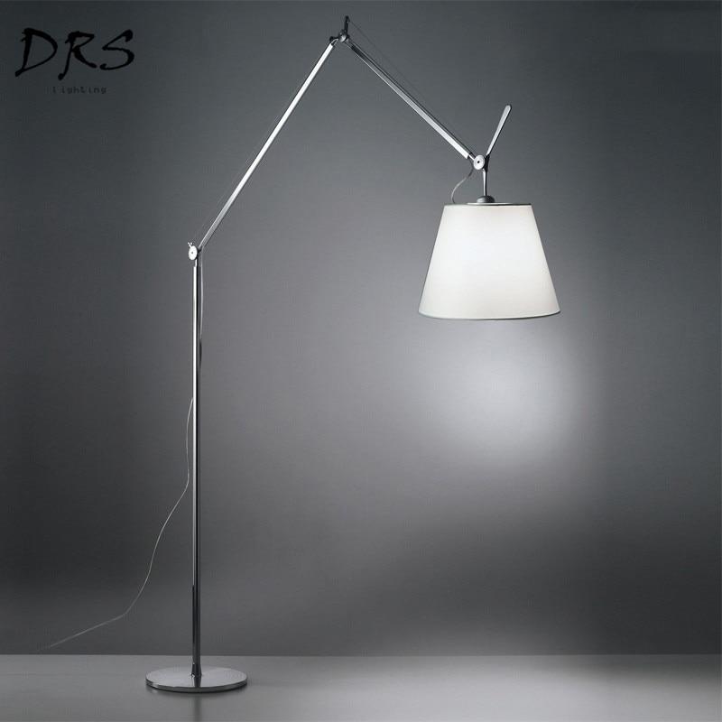 Designer Double Rocking Floor Lamp Artemide TOLOMEO Living Room Study Fishing Rocker Arm Floor Lamp Lamparas De Pie Luminaire