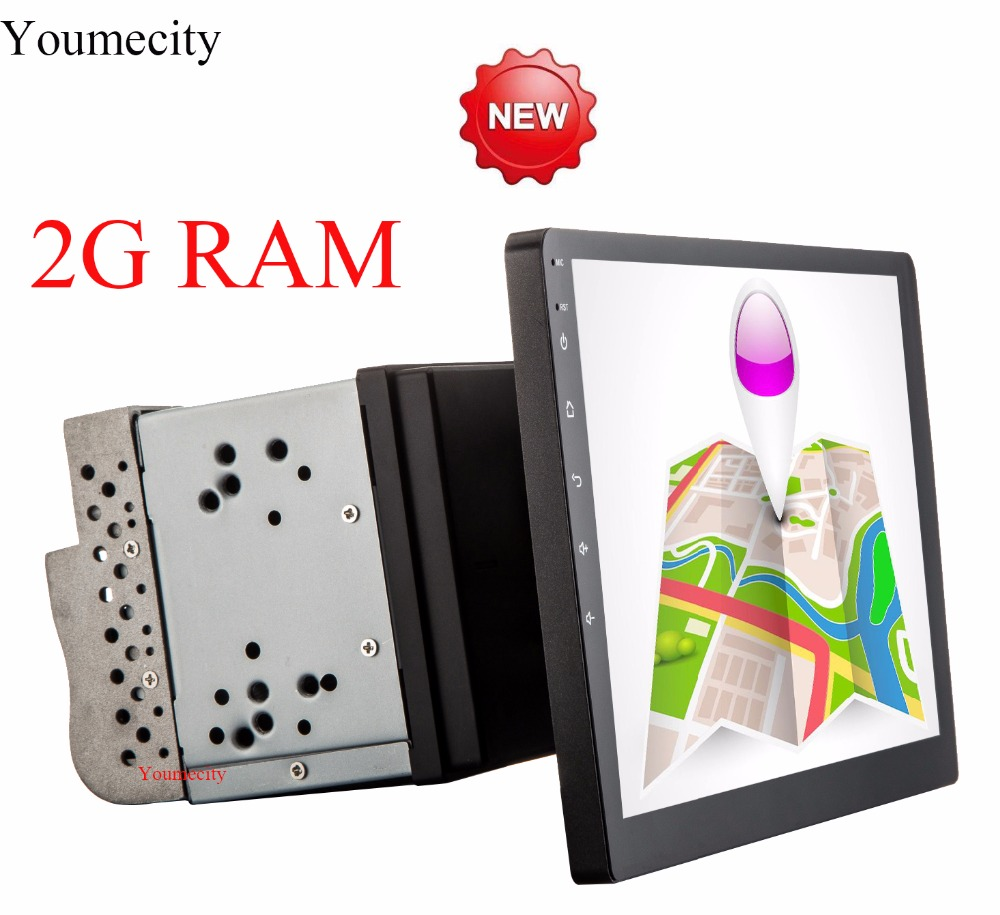 Youmecity 10 1 Inch Screen Android 7 1 2 din Car font b Gps b font