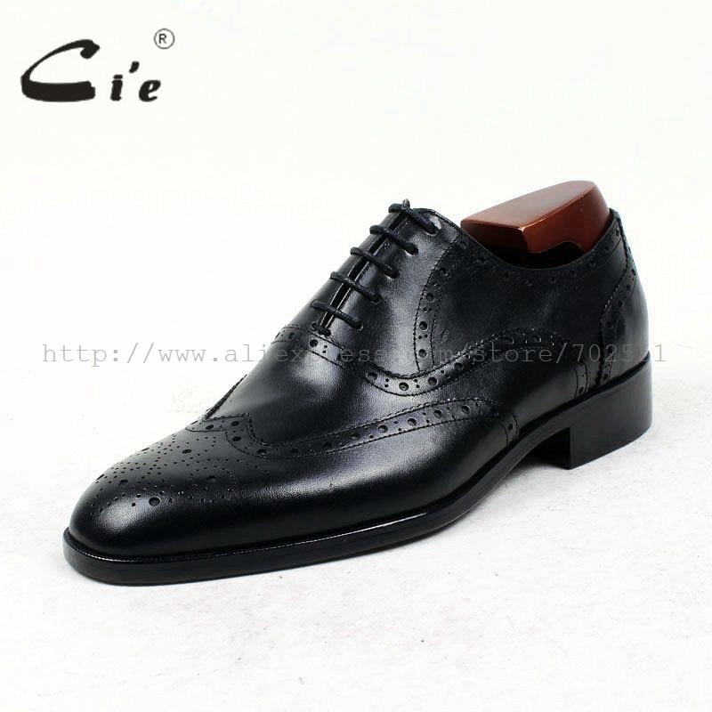 Cie جولة تو كاملة تصليحه مفصل مخصص اليدوية الصرفة العجل جلد طبيعي الرجال اللباس أكسفورد جلد الحذاء OX423 لاصقة الحرفية-في أحذية رسمية من أحذية على  مجموعة 2