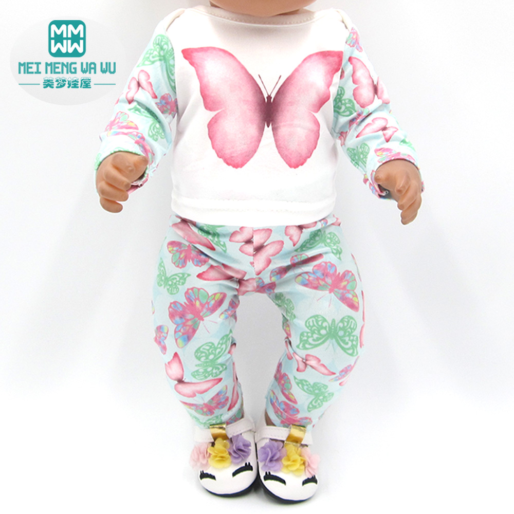 Clothes For Doll Fit 43-45cm Baby New Born Doll And American Doll Fashion Casual Suit, Dress