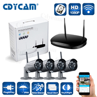 4CH 1080P Wireless NVR 4PCS 2 0MP Wifi IP Camera IR Waterproof Outdoor 1080P CCTV Camera