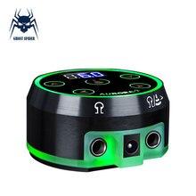 Aurora-2 источник питания для тату, обновленный цифровой ЖК-дисплей, мини светодиодный сенсорный блок питания для татуировок, поворотные машинки, ручка