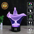 HUI YUAN Magic lamp 7 color changing 3D Bulbing Light Heart visual illusion LED for kids toy Christmas gifts Night Light