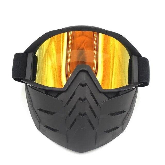 SAI YU Ski Bike Motorcycle Face Mask Goggles Motocross Eyewear Motorbike Open Face Detachable Goggle Helmets Vintage Glasses