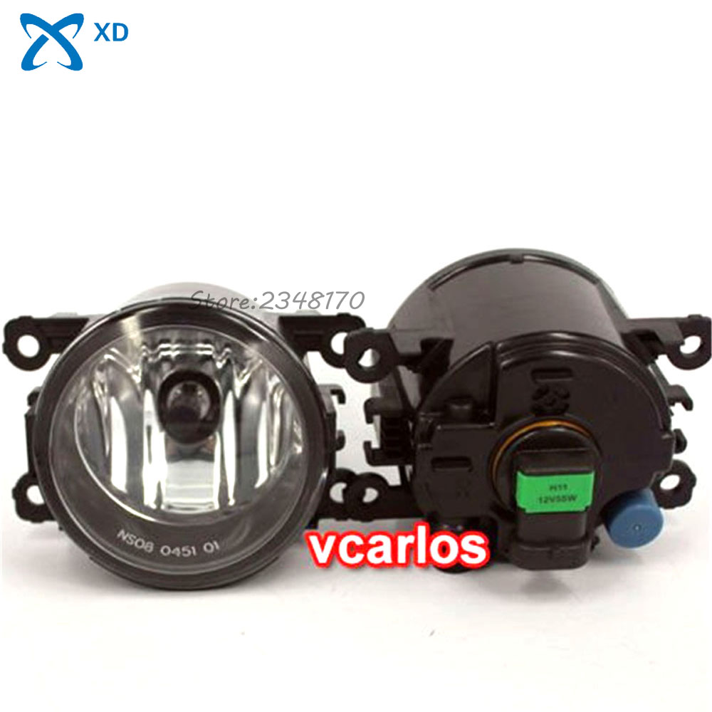 Fog Lights lamp For NISSAN X-TRAIL & FRONTIER 2008~ON Clear Lens PAIR SET + Wiring Kit fog light set Free Shipping high quality fog lights lamps safety fog light fit for toyota yaris 2009 2010 2011 with clear lens pair set wiring kit