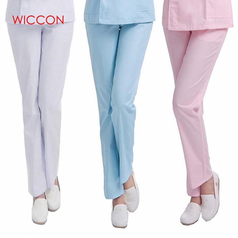 WICCON 2018 Genuine NX Thin And Thick Summer Nurse Pants Winter Nurse Trousers Elastic Waistband Nurse Clothes Solid Nurse Pants