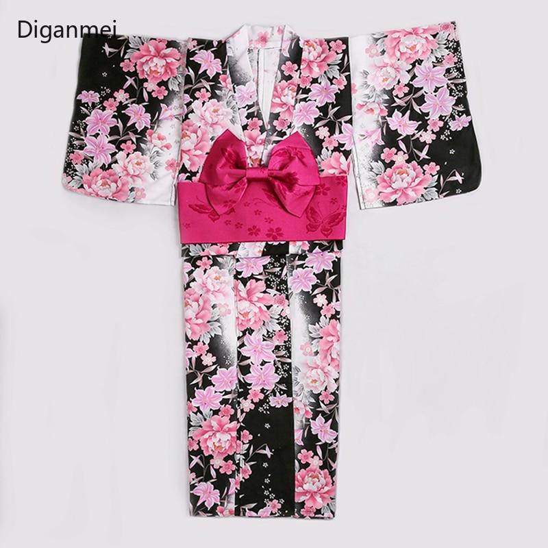 Cardigan japonais kimono femme robe peignoir femme rose fleurs de cerisier voyage traditionnel long kimonos cosplay