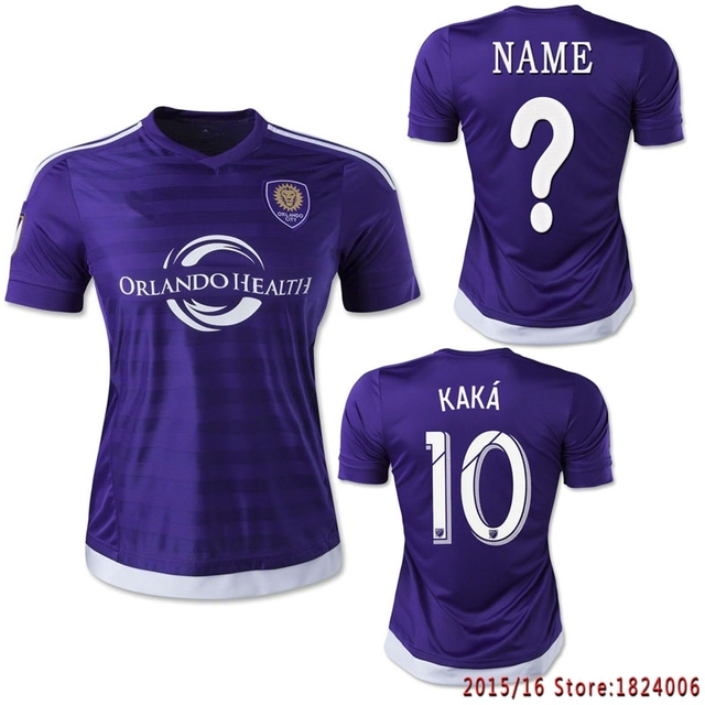 Football shirts 2015 2016 Orlando City KAKA 10 Kits Soccer Jersey Women s  Home Purple GERRARD Orlando City Maillot Foot Uniforms 9e29ec446e