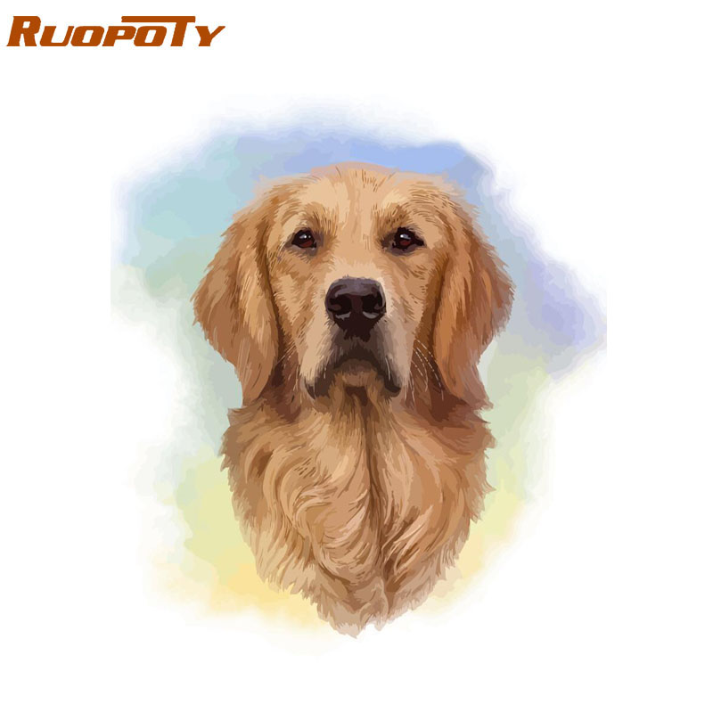 Low Price  RUOPOTY Frame Dog DIY Painting By Numbers Animals Kit Home Wall Art Picture By Numbers Drawing Canv