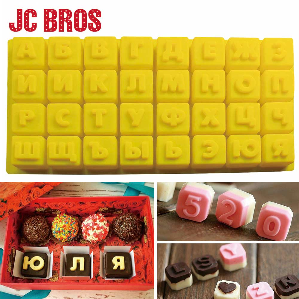 Russian Alphabet/Letters Silicone Mold DIY Candy Pudding Fondant Chocolate Mould Cake Decoration Tools Pastry Tool Bakeware Tool